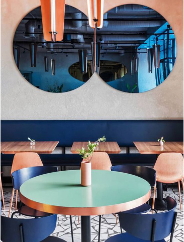 Pantone classic blue colour in liteco construction projects