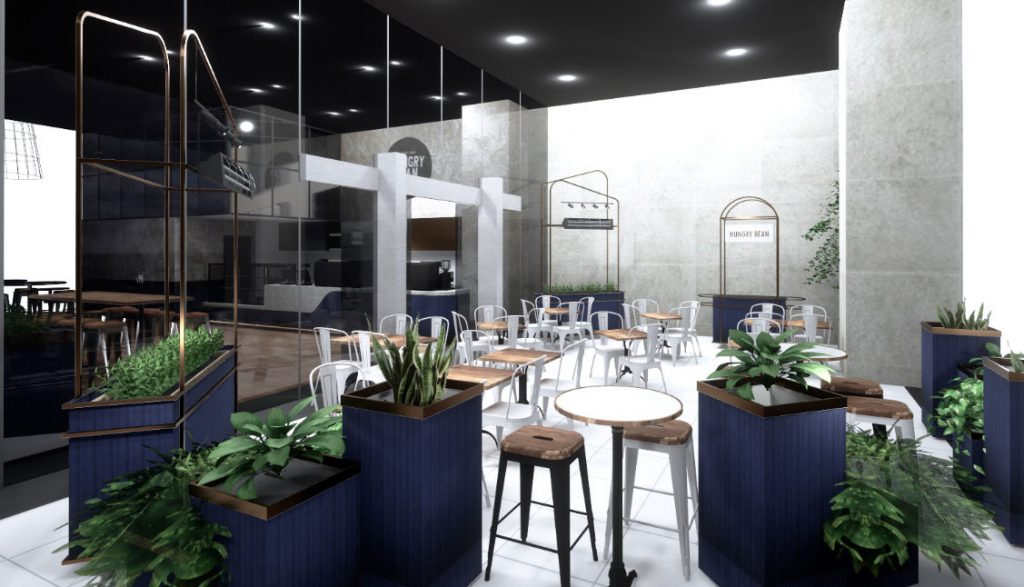 Pantone-classic-blue-in-cafe-fitout-by-liteco-Sydney